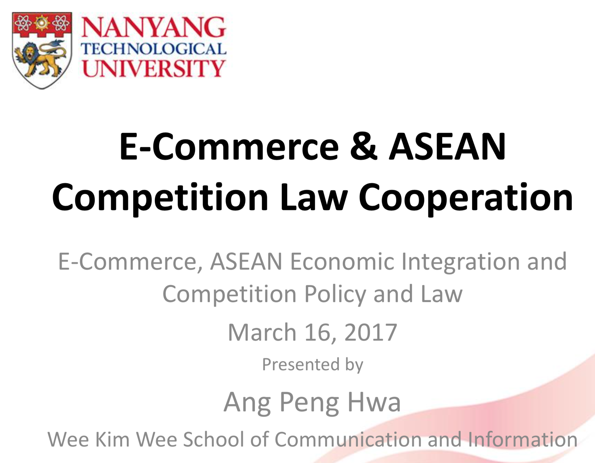 E-Commerce & ASEAN Competition Law Cooperation