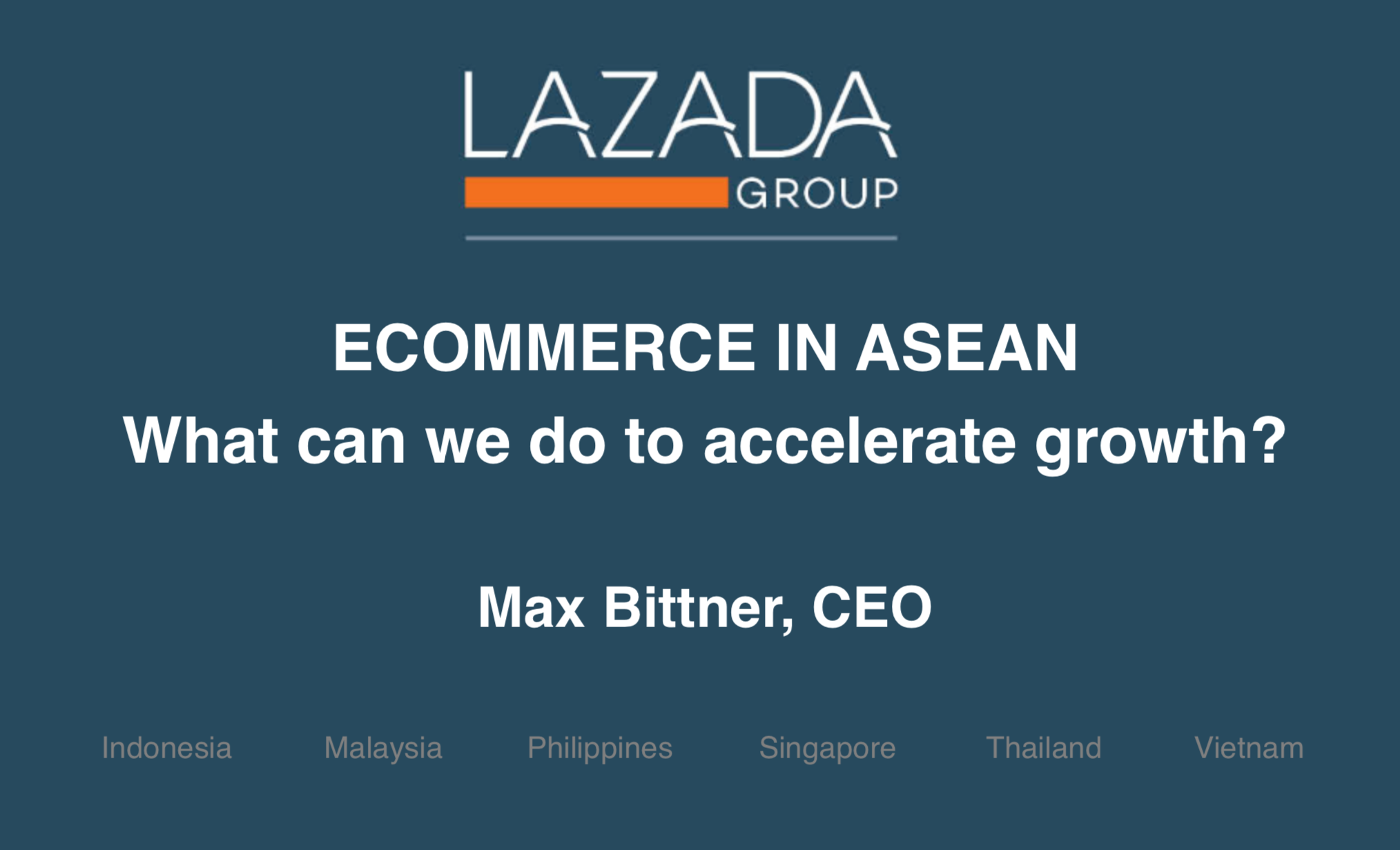 E-Commerce in ASEAN - What can we do to Accelerate Growth?