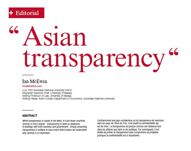 Asian Transparency