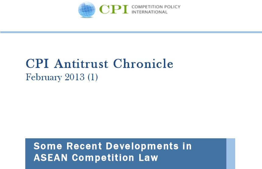 Some Recent Developments in ASEAN Competition Law
