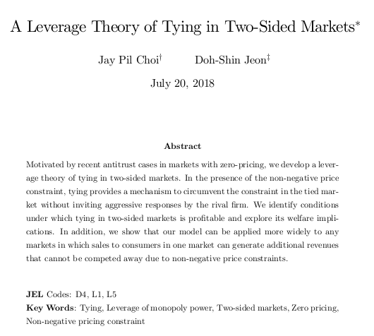 A Leverage Theory of Tying in Two-Sided Markets