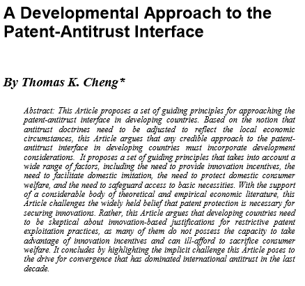 A Developmental Approach to the Patent-Antitrust Interface