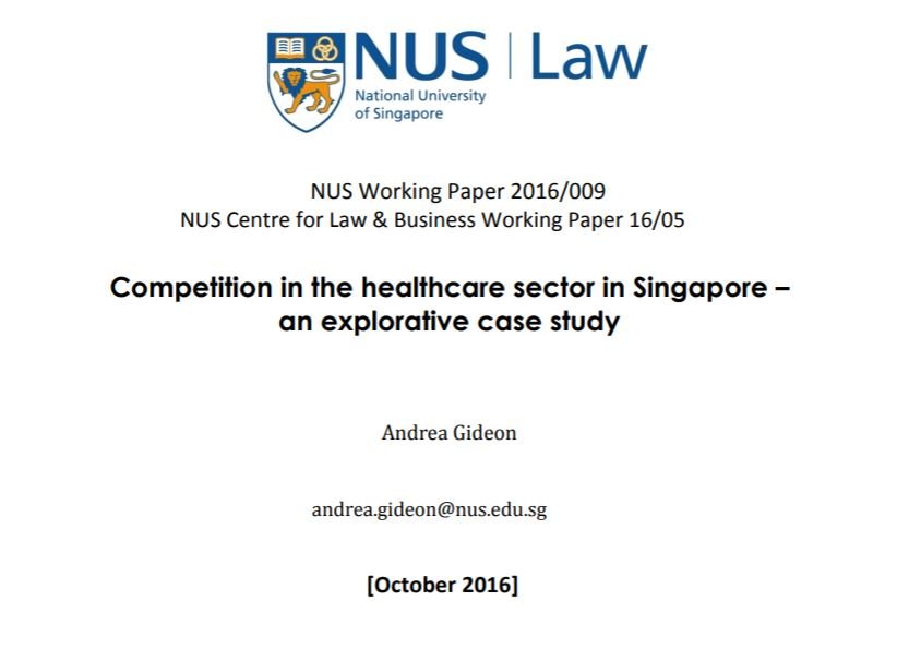 Competition in the Healthcare Sector in Singapore – An Exploratative Case Study